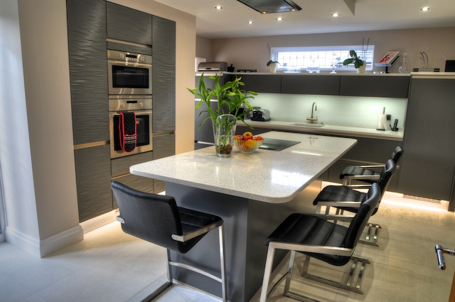 Exceptional fitted kitchen keller design centre lytham for Kitchen with centre island