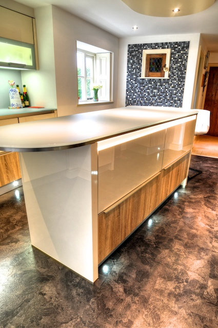 Truly Stunning Handleless Kitchen With Lechner Glass Worktops Leyland Keller Design Centre