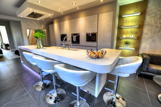 Amazing New Fitted Kitchen With Breakfast Bar Island Lytham