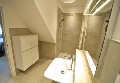 Wetroom featuring Laufen products and Mira digital shower