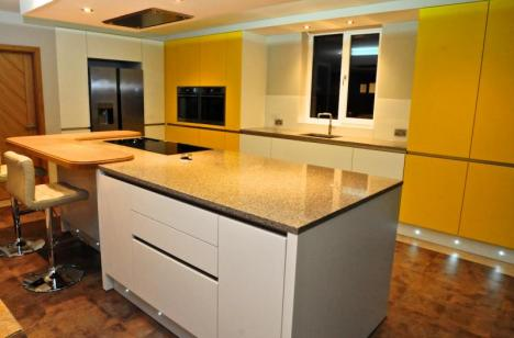 New fitted kitchen handleless style with AEG appliances