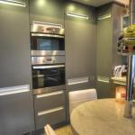 tall units feature Teka built in oven and microwave