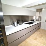 Handleless kitchen with island and breakfast bar Lytham