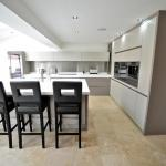 fitted kitchen with breakfast bar lytham