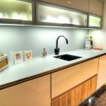 exceptional kitchens with Lechner glass and laminate worktops