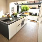 Fitted kitchen with AEG appliances and Amtico Flooring
