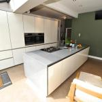 New fitted kitchen in Lytham with island and bi-fold doors