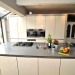 High gloss fitted kitchen Lytham with centre island