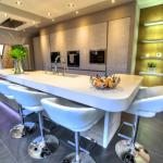 Keller kitchen with chunky 100mm Corian breakfast bar
