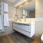 Zehnder radiator and Laufen vanity unit