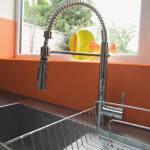 Blanco steel inset sink with Blanco Ellipse tap