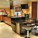 fitted kitchen design with split level work surfaces