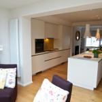 Keller high gloss fitted kitchen with island and AEG appliances