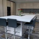 Keller gloss kitchen with large island and breakfast bar